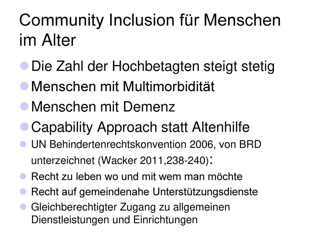 Community Inclusion für Menschen im Alter