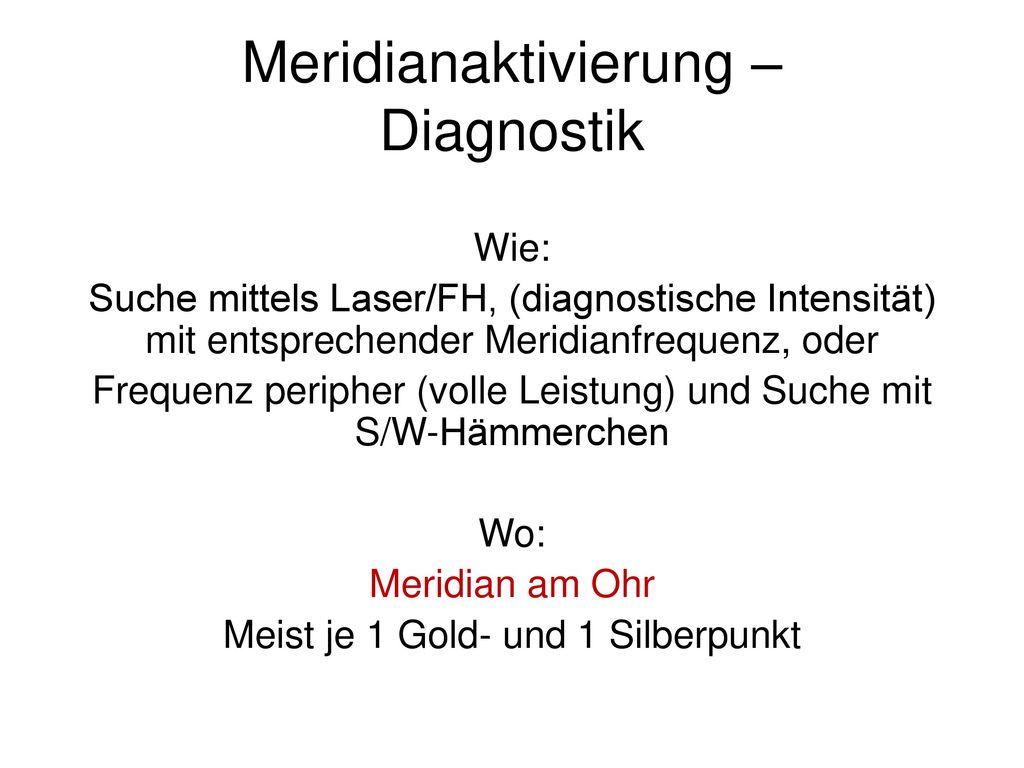 Meridianaktivierung – Diagnostik