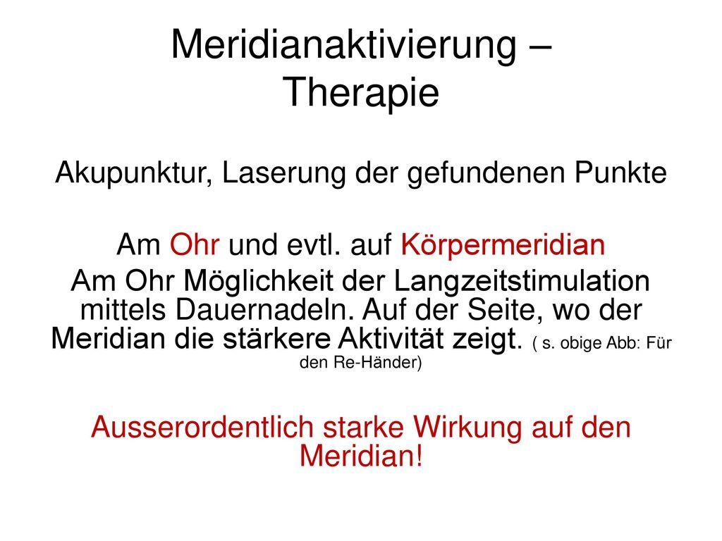 Meridianaktivierung – Therapie