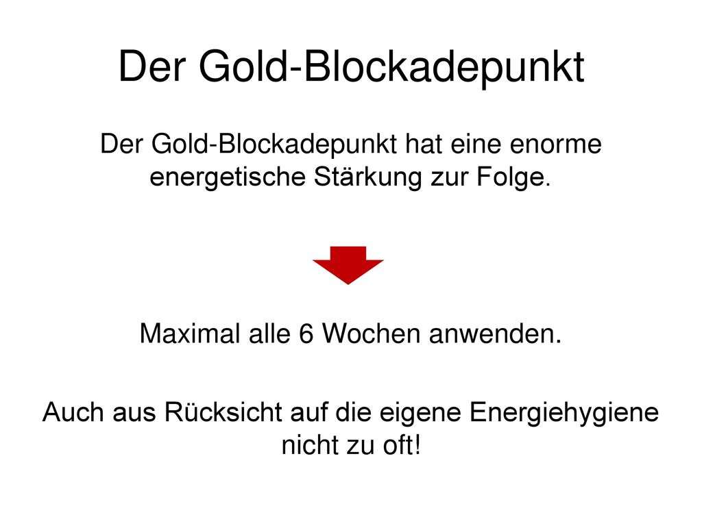 Der Gold-Blockadepunkt