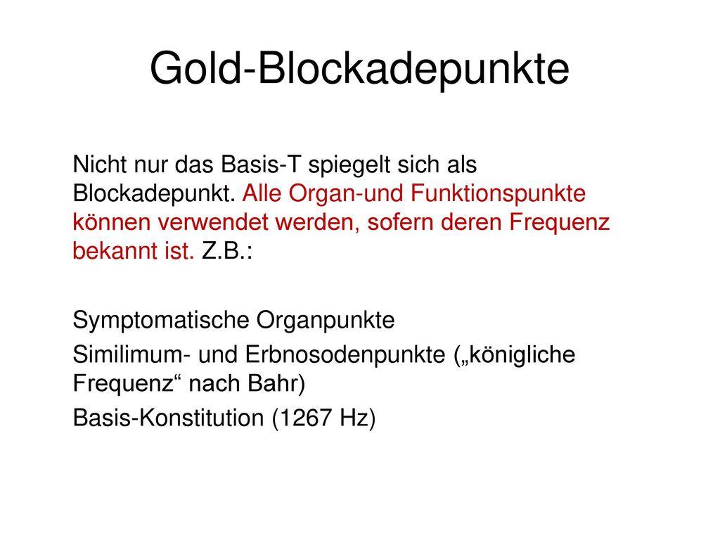 Gold-Blockadepunkte