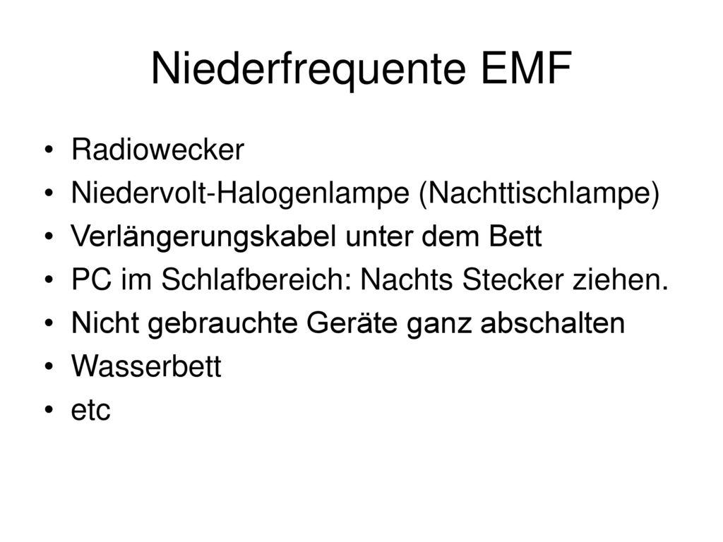 Niederfrequente EMF Radiowecker
