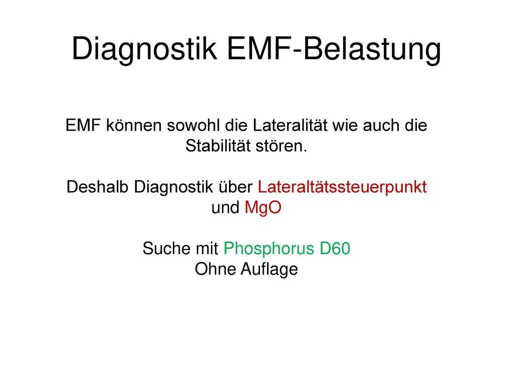 Diagnostik EMF-Belastung