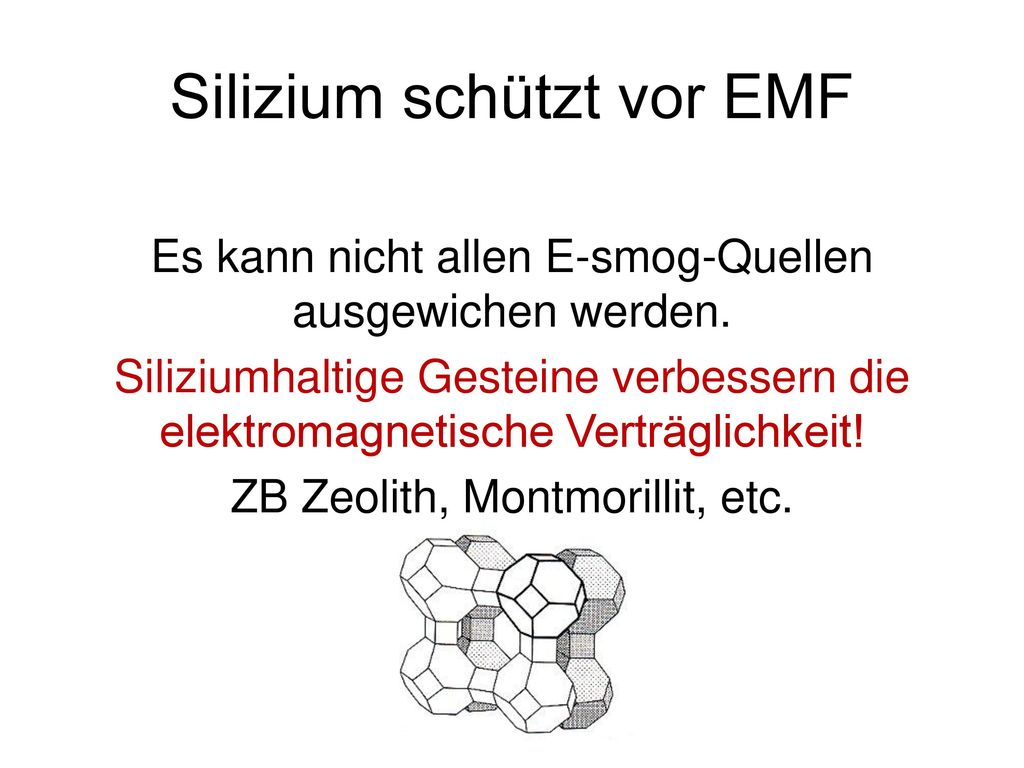 Silizium schützt vor EMF
