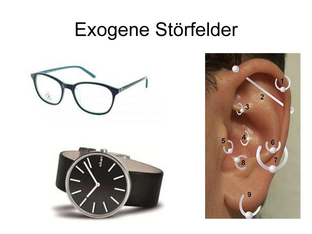 Exogene Störfelder Auch Brillen haben gelegentlich ein negative Wirkung auf die Energie. Immer testen !!!!