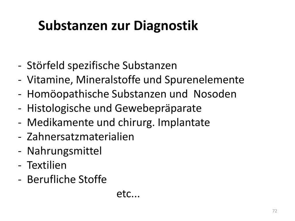 Substanzen zur Diagnostik