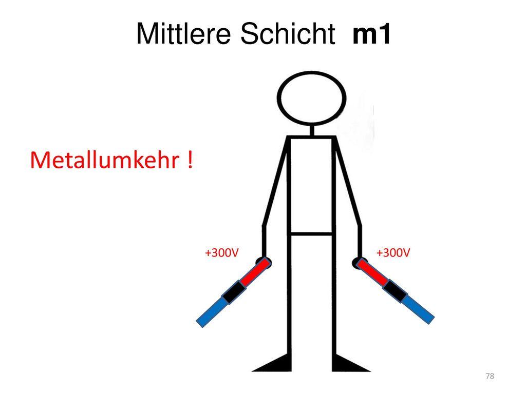 Mittlere Schicht m1 Metallumkehr ! +300V +300V