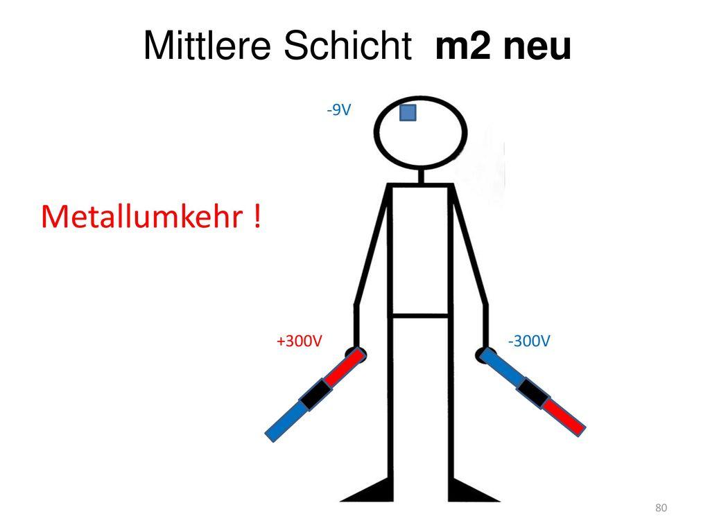 Mittlere Schicht m2 neu Metallumkehr ! +300V -300V -9V