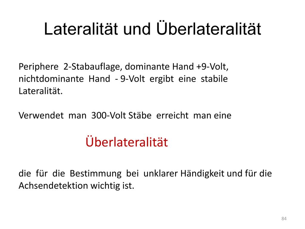 Lateralität und Überlateralität
