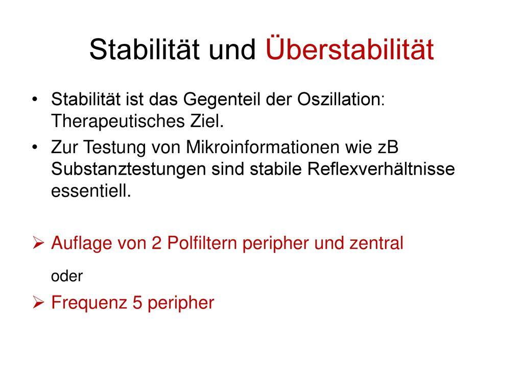 Stabilität und Überstabilität