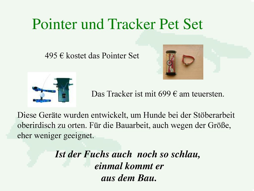 Pointer und Tracker Pet Set