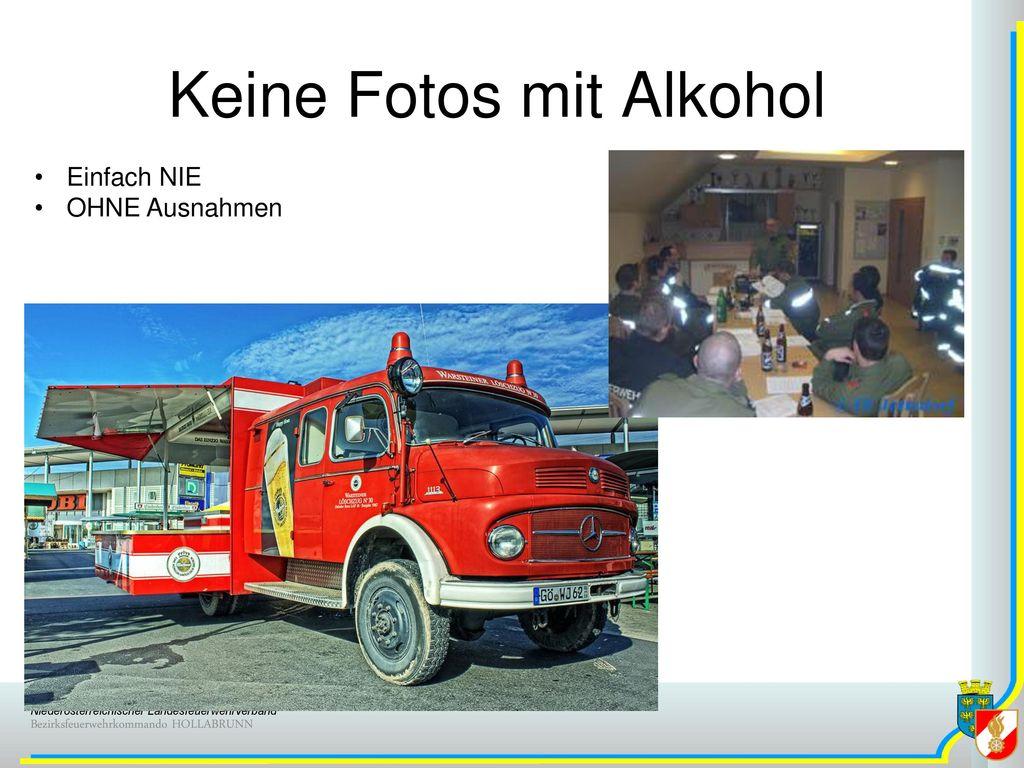 Keine Fotos mit Alkohol