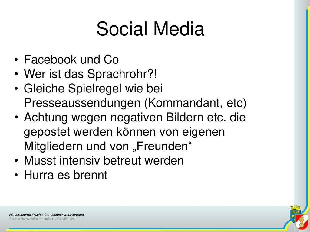 Social Media Facebook und Co Wer ist das Sprachrohr !