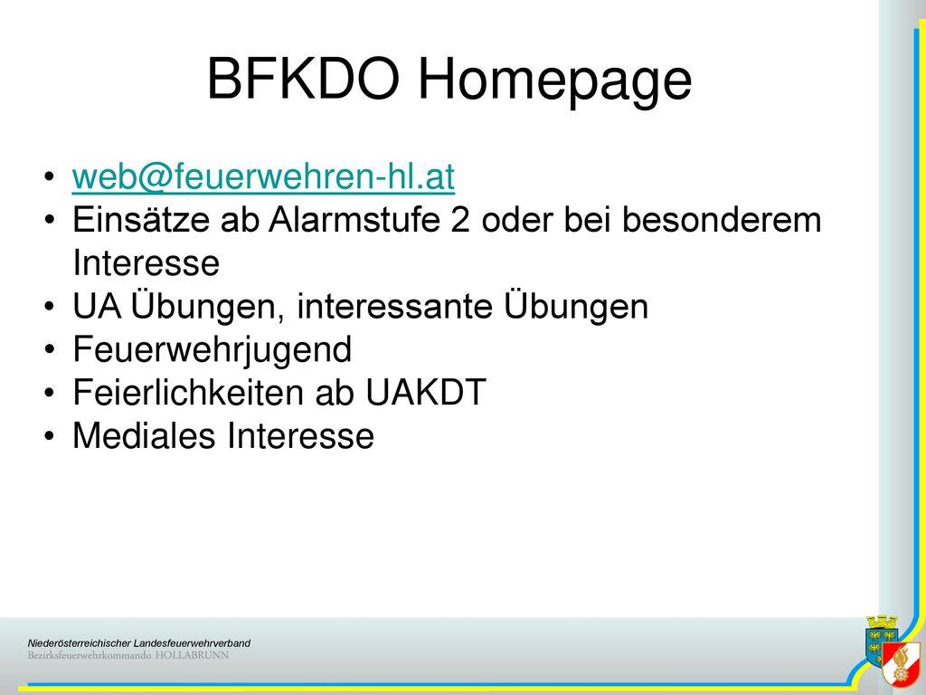 BFKDO Homepage web@feuerwehren-hl.at