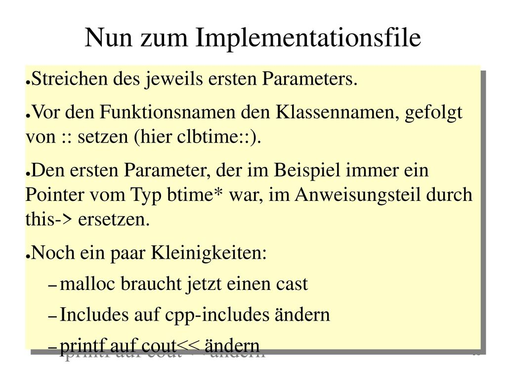 Nun zum Implementationsfile