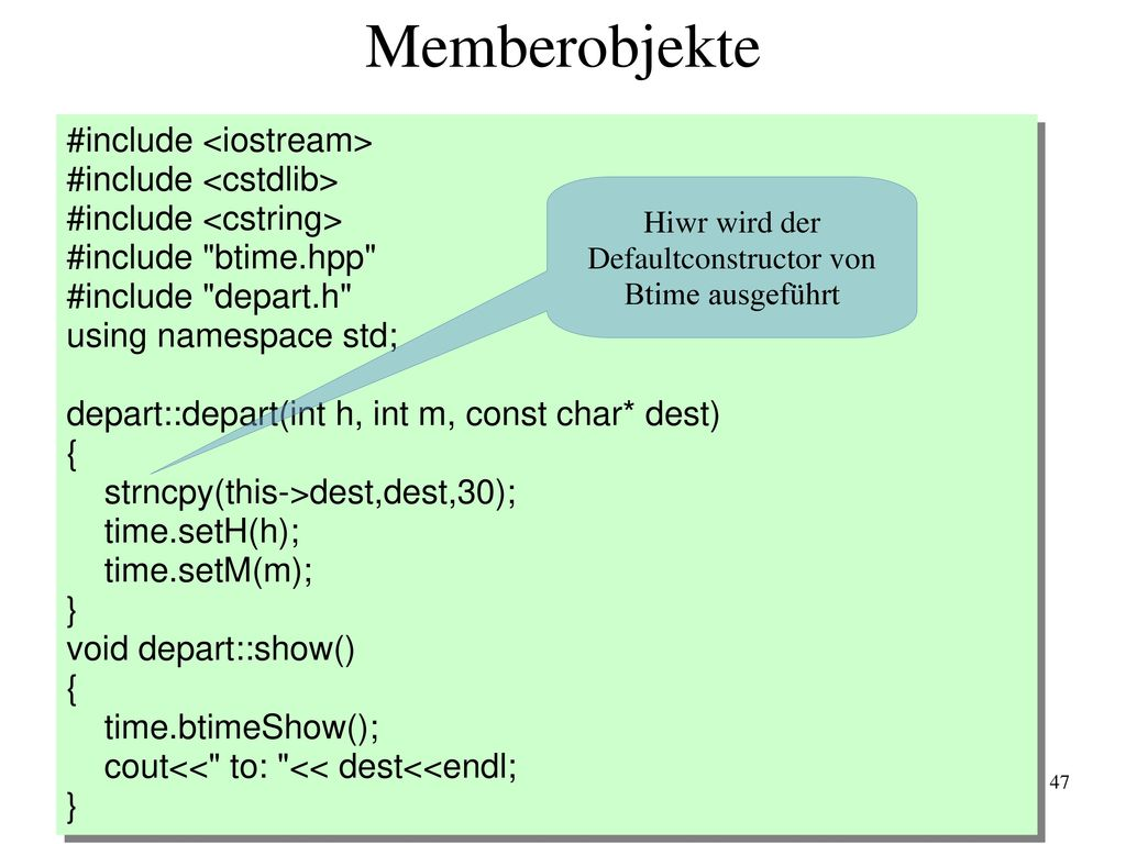 Defaultconstructor von