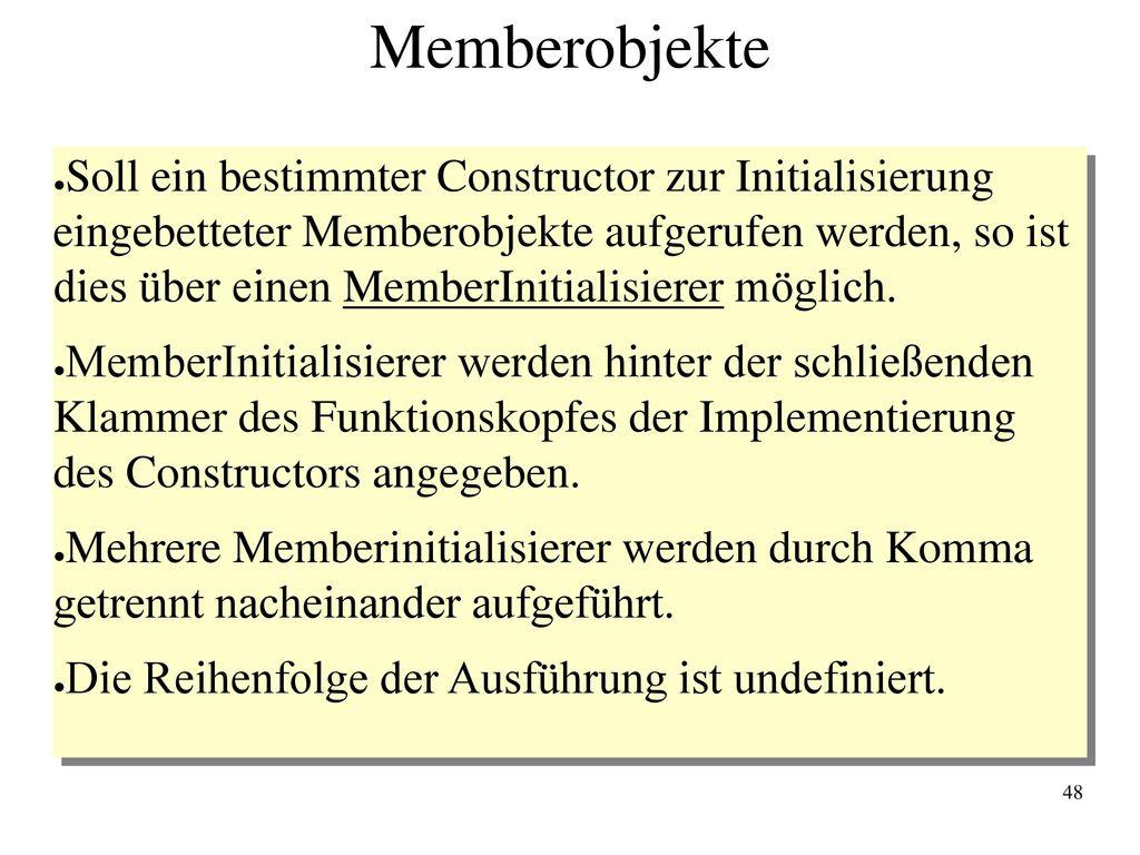 Memberobjekte