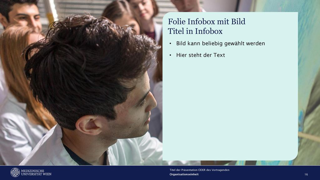 Folie Infobox mit Bild Titel in Infobox