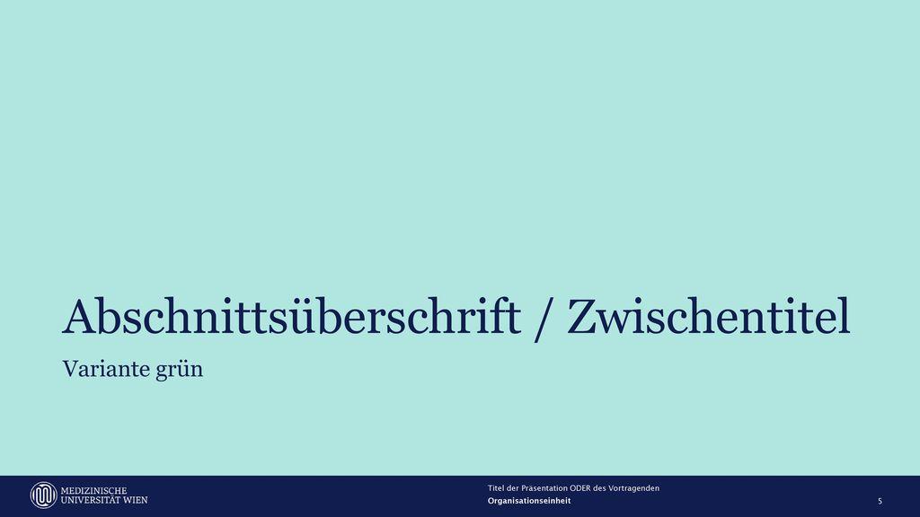 Abschnittsüberschrift / Zwischentitel