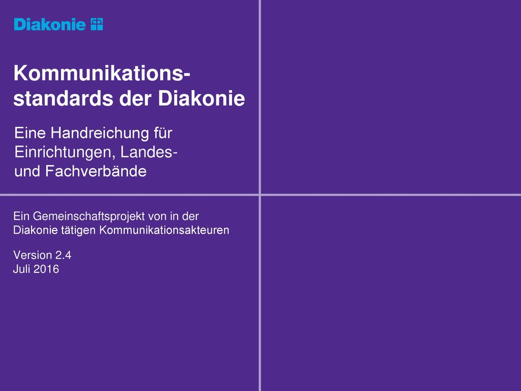 Kommunikations-standards der Diakonie