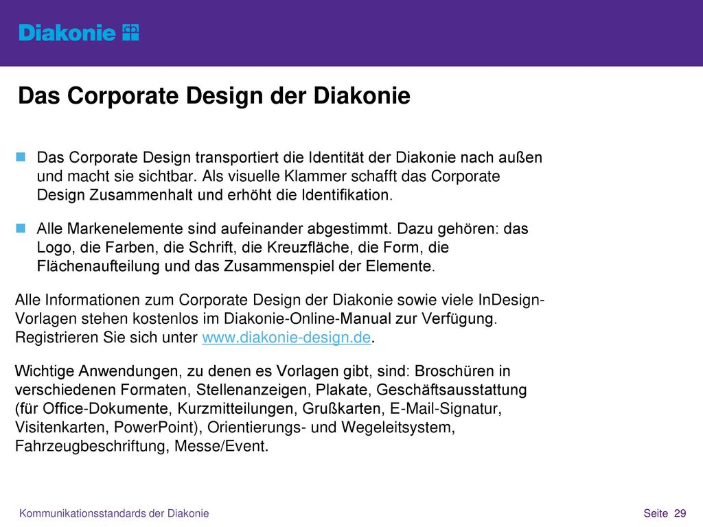 Das Corporate Design der Diakonie