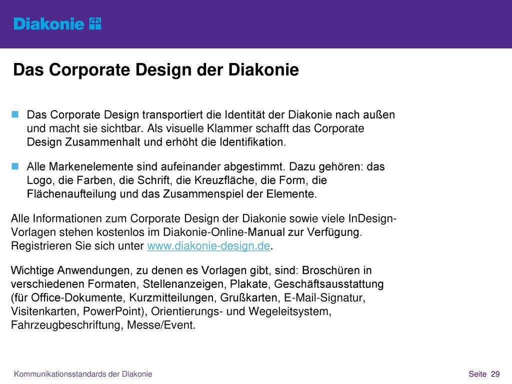 Das Corporate Design der Diakonie