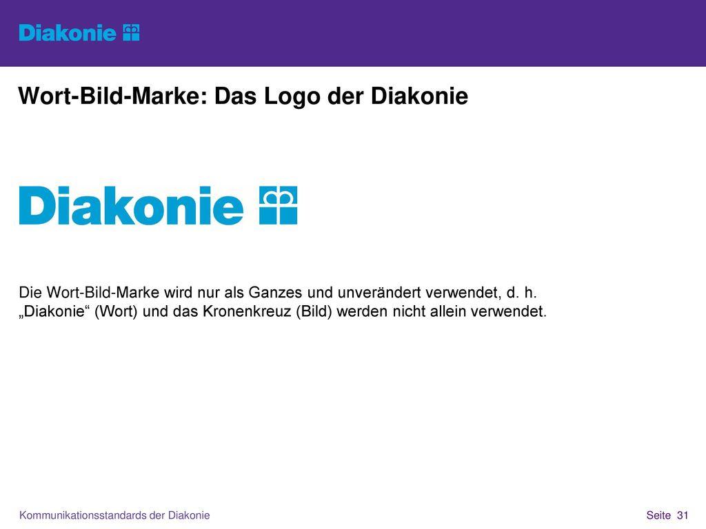 Wort-Bild-Marke: Das Logo der Diakonie