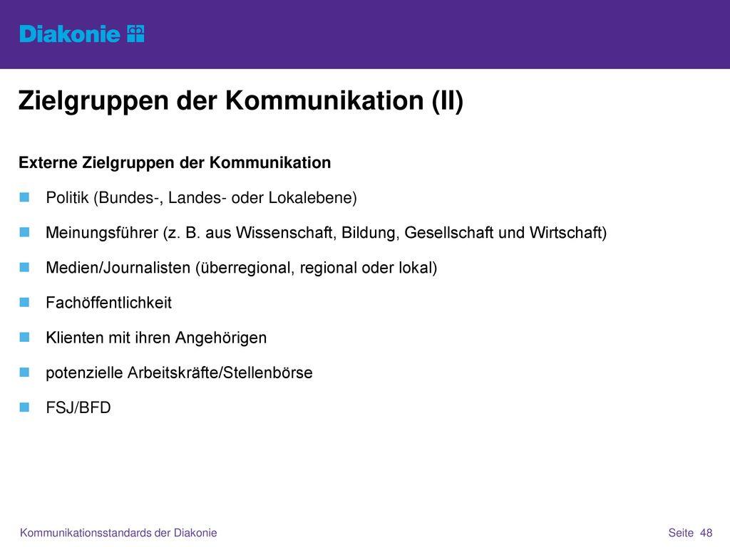 Zielgruppen der Kommunikation (II)