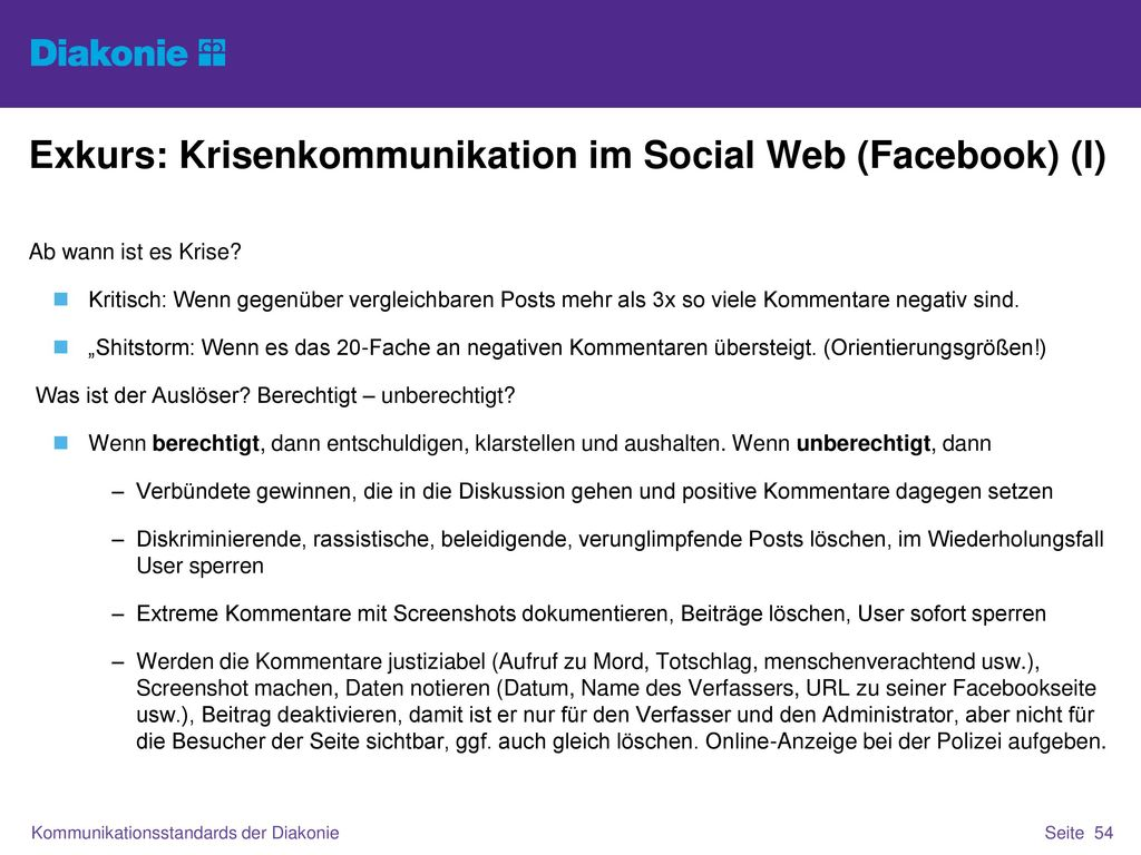 Exkurs: Krisenkommunikation im Social Web (Facebook) (I)