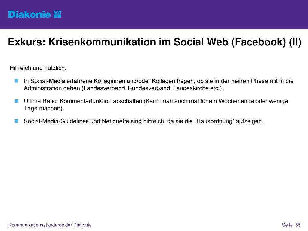 Exkurs: Krisenkommunikation im Social Web (Facebook) (II)