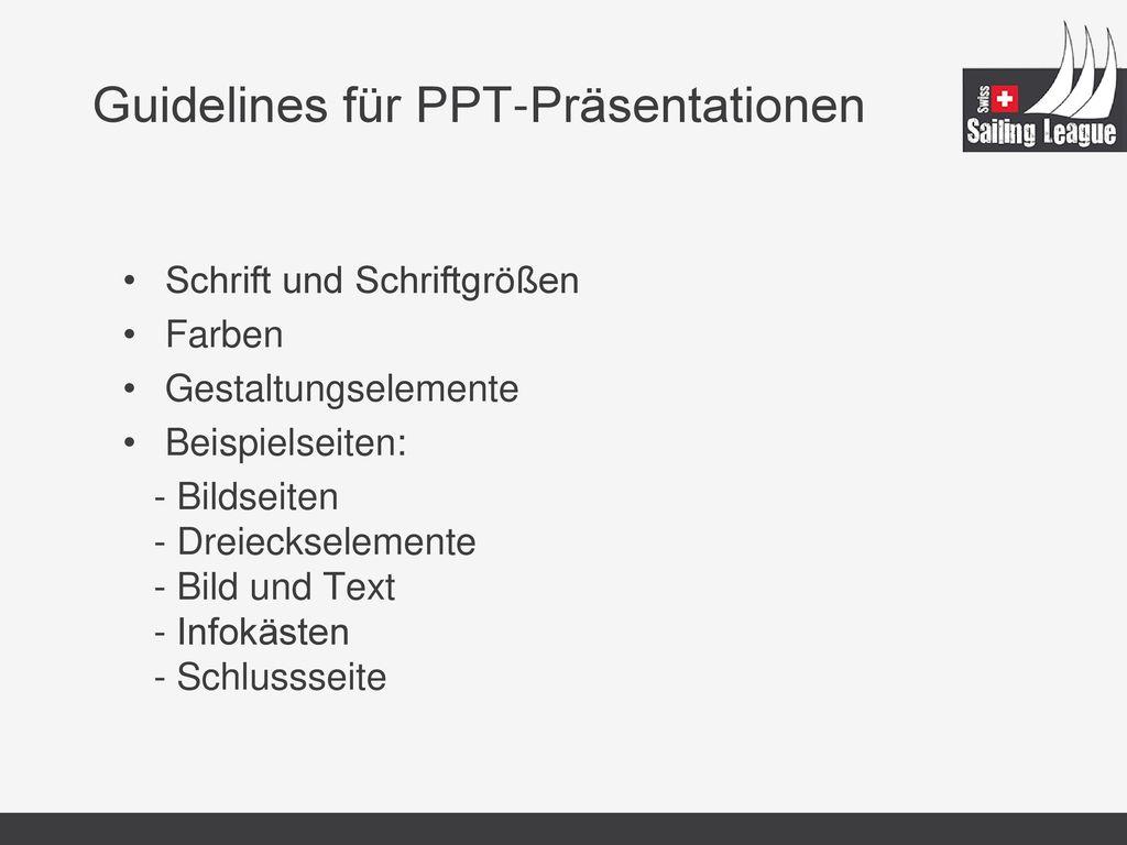 Guidelines für PPT-Präsentationen