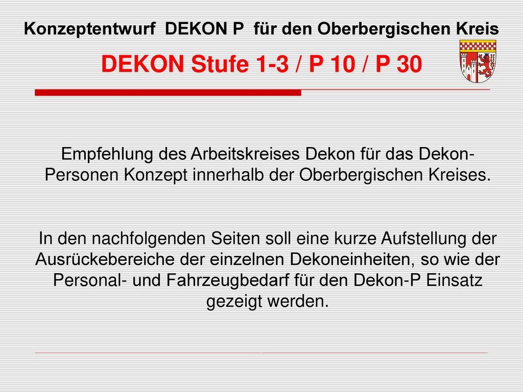 Konzeptentwurf DEKON P für den Oberbergischen Kreis