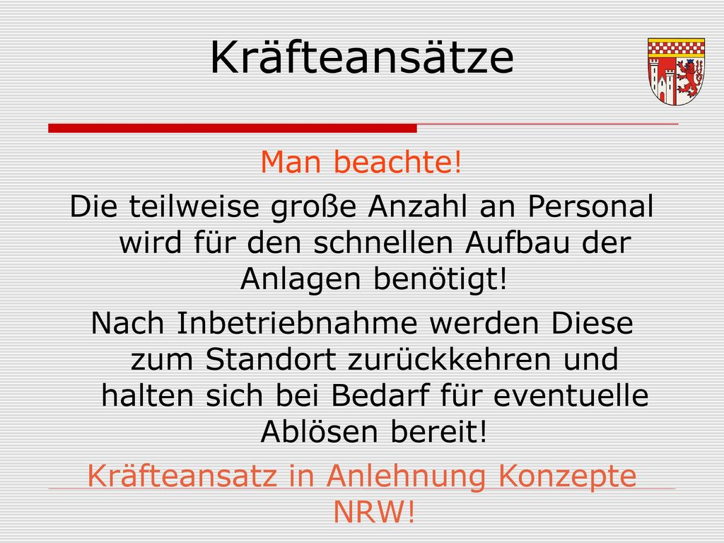 Kräfteansatz in Anlehnung Konzepte NRW!