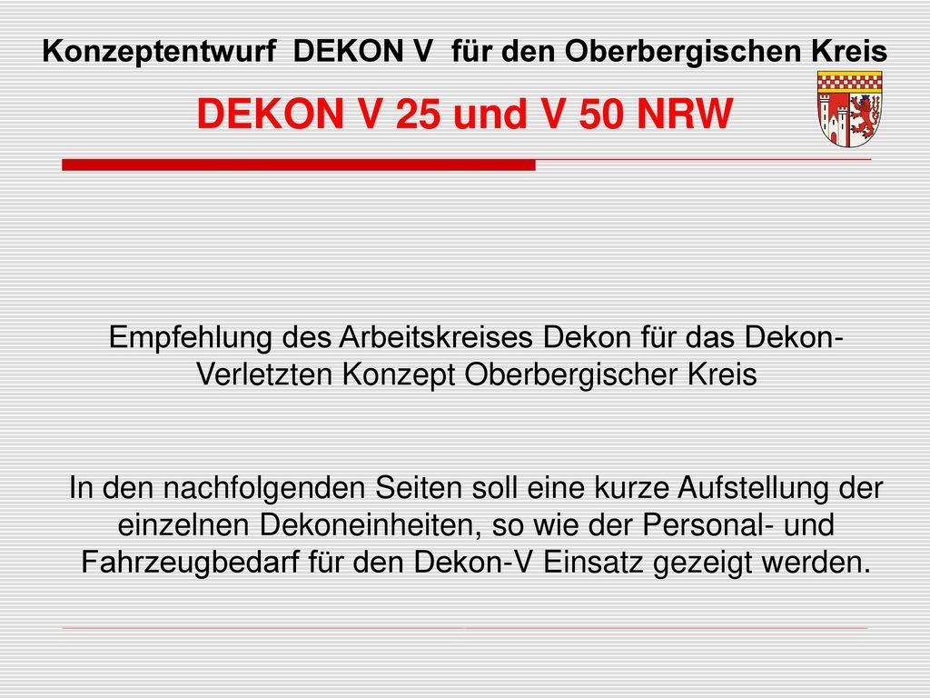 Konzeptentwurf DEKON V für den Oberbergischen Kreis