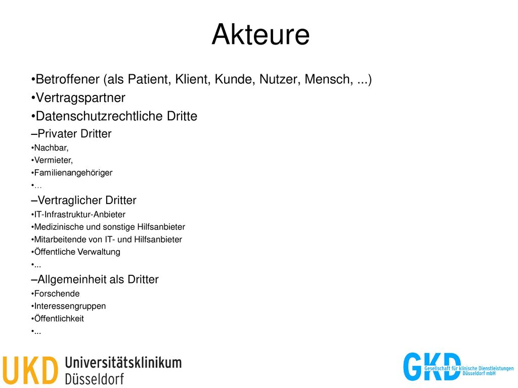 Akteure Betroffener (als Patient, Klient, Kunde, Nutzer, Mensch, ...)