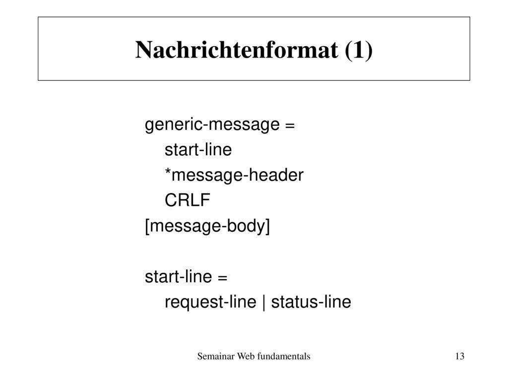 Semainar Web fundamentals