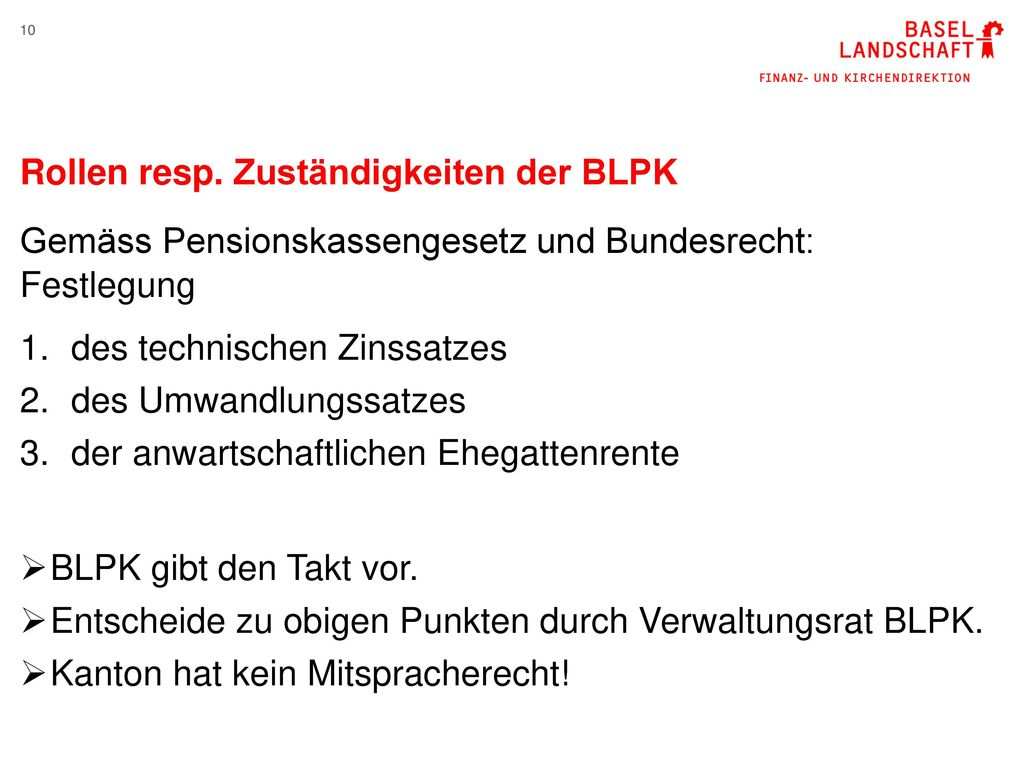 Rollen resp. Zuständigkeiten der BLPK