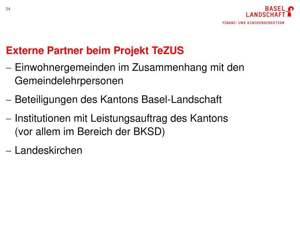 Externe Partner beim Projekt TeZUS