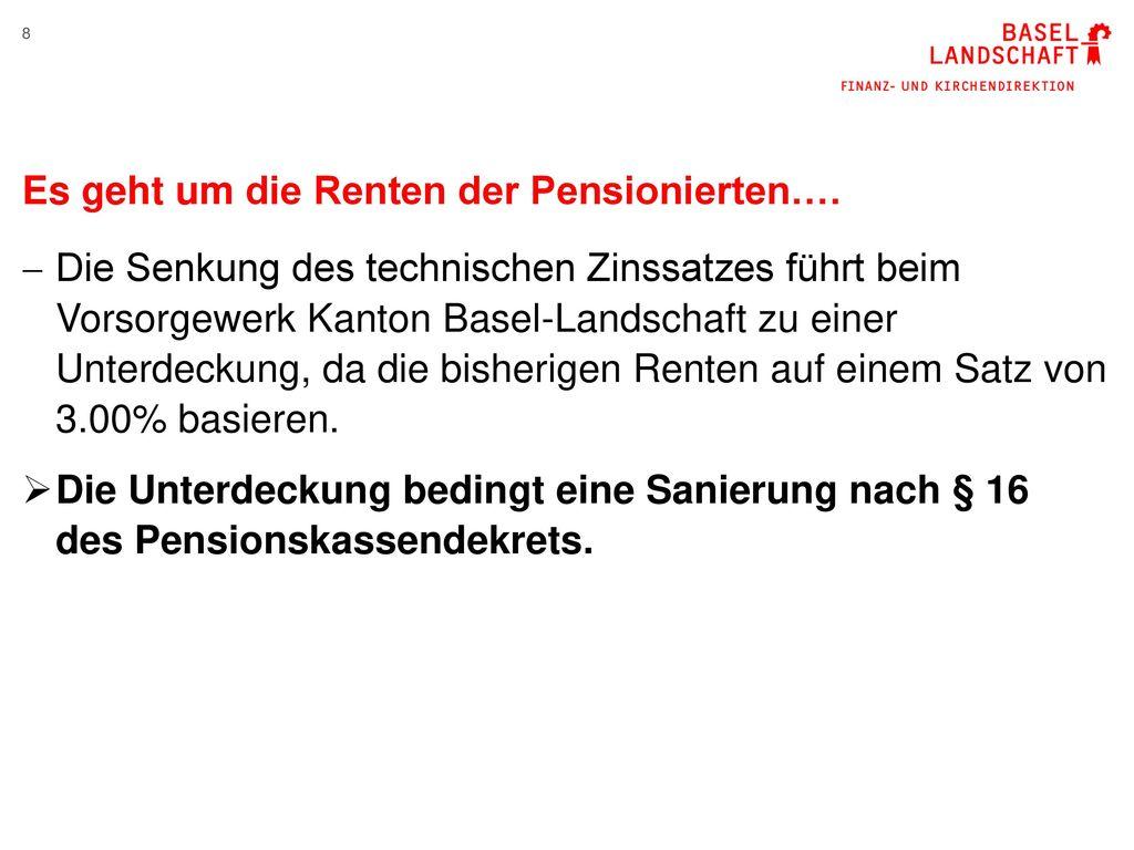 Es geht um die Renten der Pensionierten….