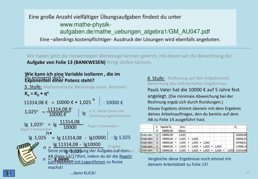 Arten von Zahlen e π √3 √7 ⅚ -⅜ ⅘ √15 ℝ ℤ -1 -2 -3 ... 1 2 3 4 ... 5 ℕ