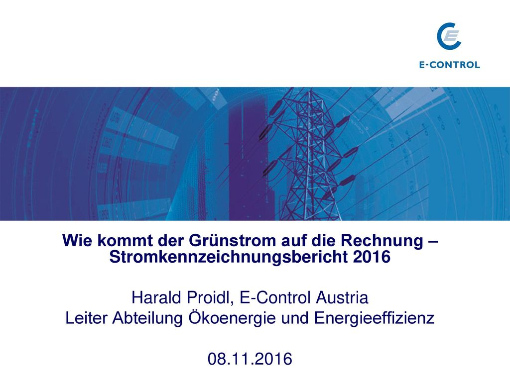Harald Proidl, E-Control Austria