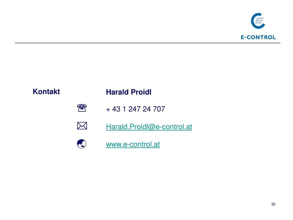  Harald.Proidl@e-control.at  www.e-control.at