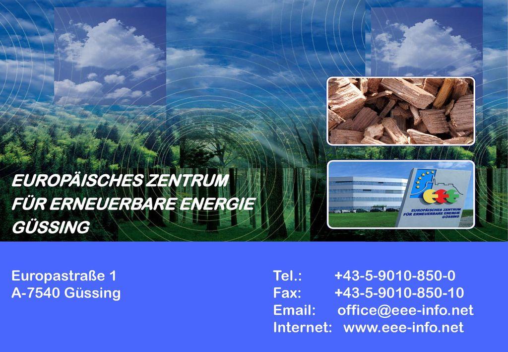 FÜR ERNEUERBARE ENERGIE GÜSSING
