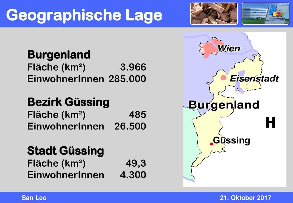 Geographische Lage H Burgenland Bezirk Güssing Stadt Güssing