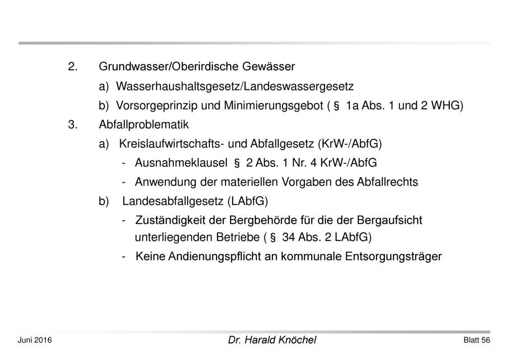 2. Grundwasser/Oberirdische Gewässer