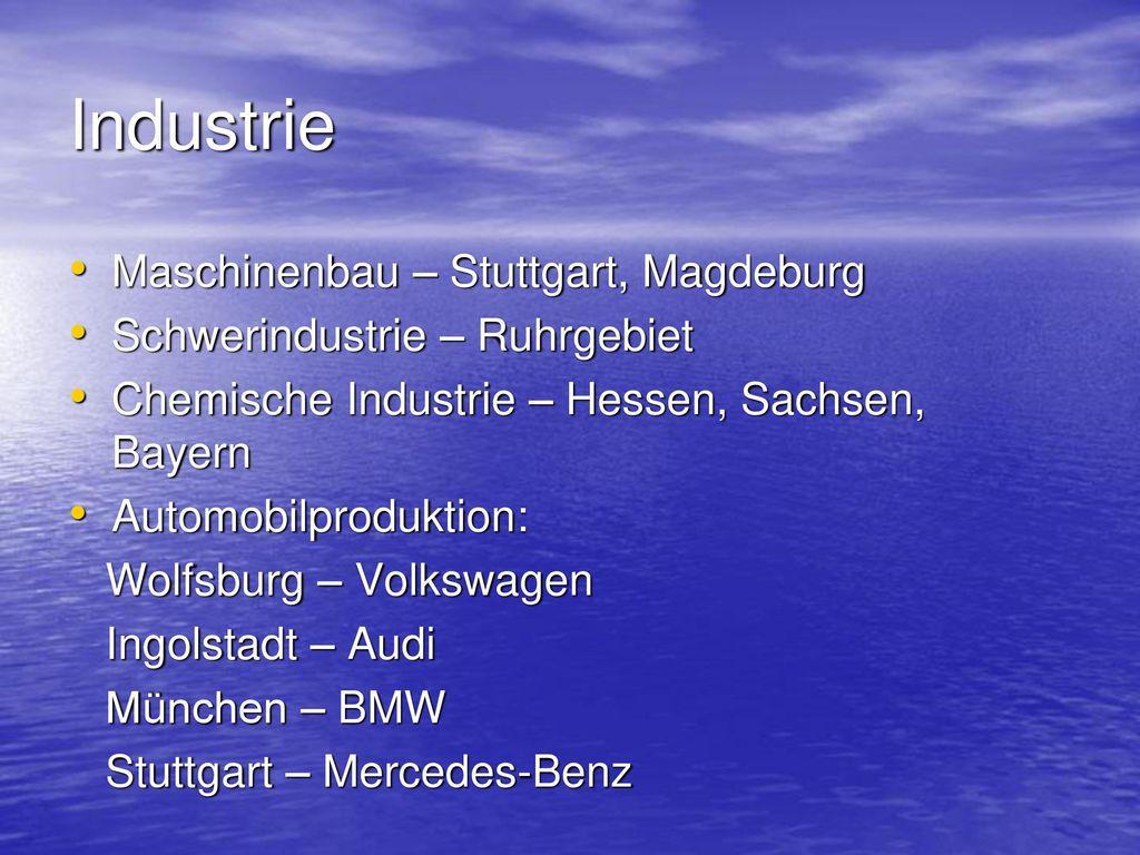 Industrie Maschinenbau – Stuttgart, Magdeburg