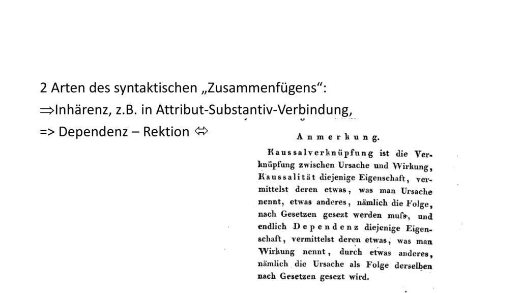 """2 Arten des syntaktischen """"Zusammenfügens :"""