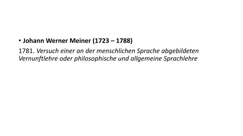 Johann Werner Meiner (1723 – 1788)