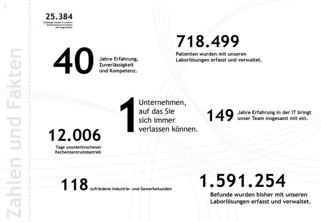 4 25.384. Zollbelege wurden in unserem. Rechenzentrum im letzten. Jahr abgewickelt. 718.499. Patienten wurden mit unseren.