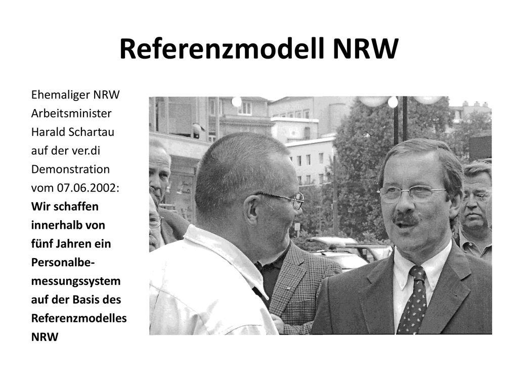 Referenzmodell NRW Ehemaliger NRW Arbeitsminister Harald Schartau